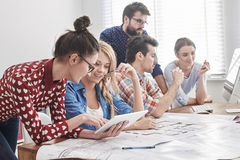 Young team of architects Royalty Free Stock Images