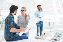 Young team of architects working together in office Royalty Free Stock Photo