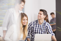 Young team in company. Young people in the team in modem business company Royalty Free Stock Photography