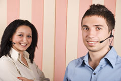 Young team of customer service Royalty Free Stock Photos