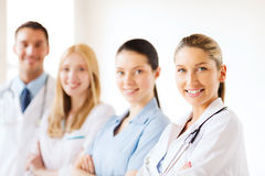 Young team or group of doctors Stock Images