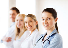 Young team or group of doctors Royalty Free Stock Images