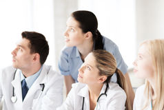 Young team or group of doctors. Healthcare and medical - young team or group of doctors Royalty Free Stock Image