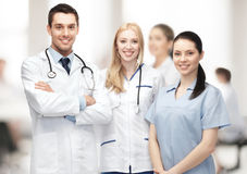Young team or group of doctors Stock Image