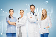 Young team or group of doctors. Healthcare and medicine concept - young team or group of doctors royalty free stock photos