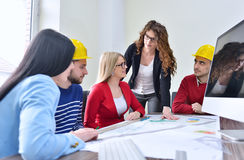 Young team have a Meeting In Architects Office Royalty Free Stock Image