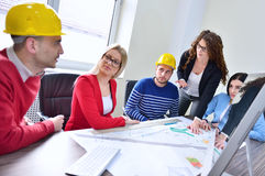 Young team have a Meeting In Architects Office Royalty Free Stock Photography