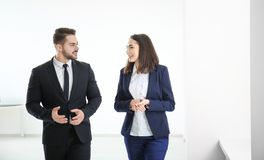 Young team of lawyers. Indoors Royalty Free Stock Photography
