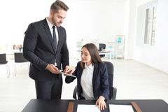 Young team of lawyers. At workplace Royalty Free Stock Photography