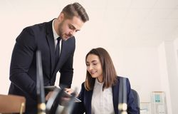 Young team of lawyers. At workplace Royalty Free Stock Images
