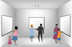 Young team in a presentation room. Vector Stock Photo