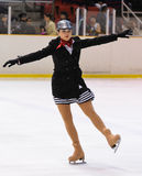 Young team from a school of skating on ice performs at the International Cup Ciutat Royalty Free Stock Image