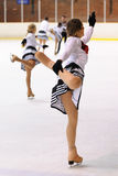 Young team from a school of skating on ice performs at the International Cup Ciutat de Barcelona Stock Images