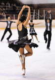 Young team from a school of skating on ice performs at the International Cup Ciutat de Barcelona Open at Pista de Gel Pavilion Royalty Free Stock Photos