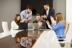 Young teamwork in the office royalty free stock images