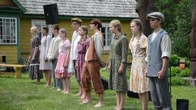 Young teen actors show stock video