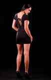 Young teen in black dress Royalty Free Stock Images