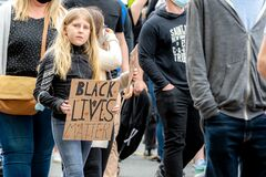 Young Teen At A Black Lives Matter Rally