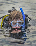 Young Teen Boy - SCUBA Checkout Dive Stock Photography