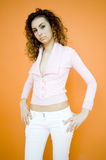 Young Teen in Casual Clothes Royalty Free Stock Photography