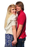 Young teen couple holding hands Royalty Free Stock Photo