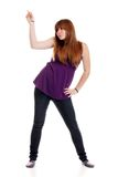 Young teen dancing Royalty Free Stock Image