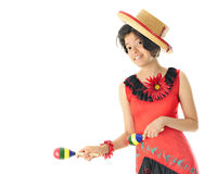 Young Teen Dancing Mexican Stock Images
