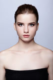 Young teen female beauty portrait with day makeup royalty free stock image