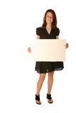 Young teen girl holding blank board Stock Photography