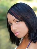 Young teen girl outdoor portrait mixed ethnic Stock Image