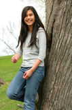 Young teen girl outdoors Royalty Free Stock Photo