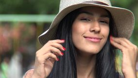 Cute hispanic female teen stock video footage