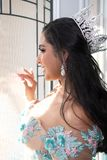 Teenager In Quinceanera Dress royalty free stock photo