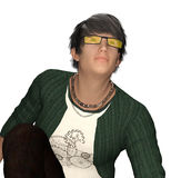 Young teen idol posing Stock Image