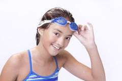 Young teen lifts goggles. Stock Photography