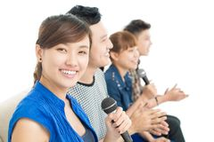 Let's sing together! Royalty Free Stock Images