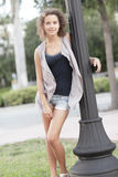 Young teen model. Image of an attractive young female model outdoors Stock Images