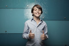 Young teen showing two thumbs up Stock Image