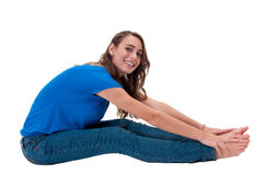Young teen stretching Stock Images