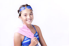Young teen with towel over shoulder. Stock Photos