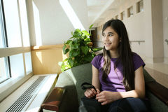 Young teen waiting stock images