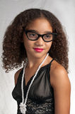 Young teen wearing black glasses Royalty Free Stock Image
