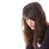 Young teen woman with depression Royalty Free Stock Photography