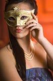 Young Teen woman at Masquerade Ball Royalty Free Stock Photos