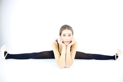 Young teenage ballerina doing split  Stock Image