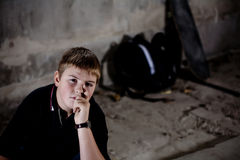 Young teenage boy portrait Royalty Free Stock Photography