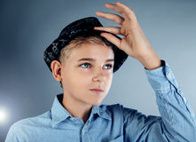 Young teenage boy posing Royalty Free Stock Photos
