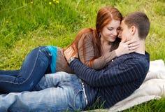 Young teenage couple outdoor Stock Image