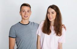Young teenage couple, Stock Image