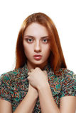 Young Teenage Girl. Looking Rebellious Royalty Free Stock Photo